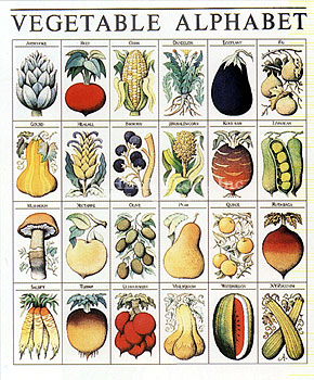 Vegetable Alphabet
