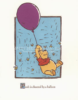 Pooh is Cheered by a Ballon