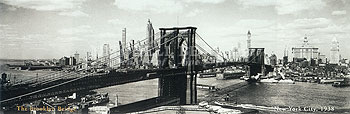 The Brooklyn Bridge, New York City 1938