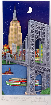 The George Washington Bridge & the NYC Skyline