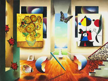 Miro and Sunflowers